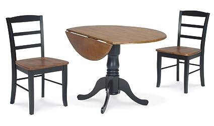 Amazoncom Dual Drop Leaf Table Set Made Of Solid Wood Sturdy
