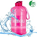 VENNERLI Half Gallon Water Bottle 74 oz Gym Bottle Large Sport Water Jug 2.2 Liter BPA Free Hydro Water Bottle for Yoga Travel Cycling Camping
