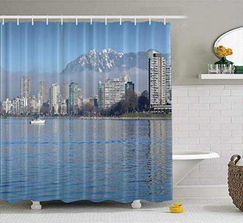 Summor Fabric Shower Curtain English Coast Mountains for sale  Delivered anywhere in Canada