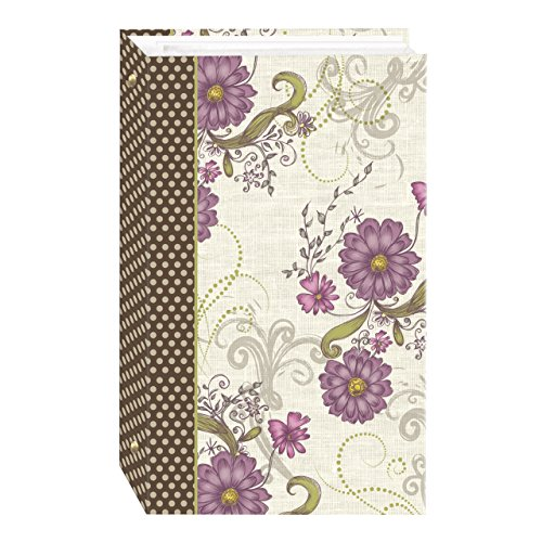3-Ring Photo Album 300 Pockets Hold 4x6 Photos, Berry Blossoms Design - Floral Album