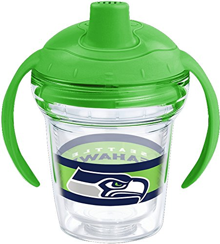 Tervis 1259924 Seattle Seahawks Sippy Cup With Lid, 6 oz, Clear
