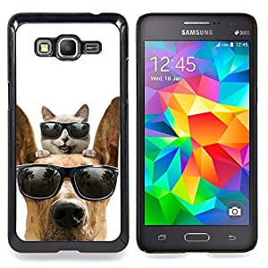 """Gato Gran danés Sunglasses Shades verano"""" - Metal de aluminio y de plástico duro Caja del teléfono - Negro - Samsung Galaxy Grand Prime G530F G530FZ G530Y G530H G530FZ/DS"""