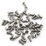Pack of 50pcs M5*12MM Button Head Hex Socket Cap Screws 304 stainless steel bolts