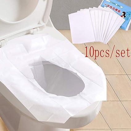 Brilliant Amazon Com 10 Pcs Toilet Seat Covers Dsposable Travel Potty Dailytribune Chair Design For Home Dailytribuneorg