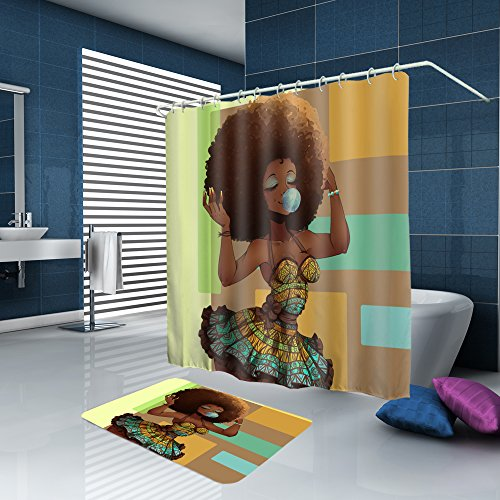 ALFALFA Home Bathroom Decorative Popular Characters Design Polyester