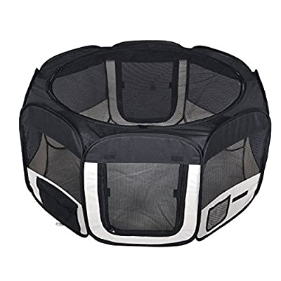 New Small Black Pet Dog Cat Tent Playpen Exercise Play Pen Soft Crate T08 by BestPet