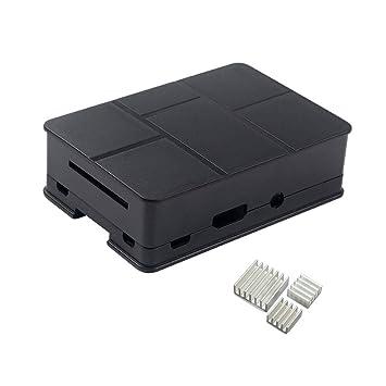 yongse® Carcasa para Raspberry Pi 3, Pi 2 Model B y Raspberry Pi Model B + Plus 3 x Disipador Schweiz Typ A