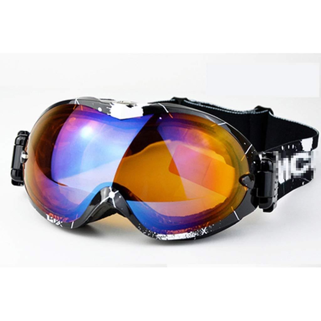YJWOZ Skibrille kann Myopie-Brille Schneebrille doppelt Anti-Fog große sphärische Bergsteigerausrüstung tragen Skibrille (Farbe : C)