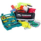 Lx Free 142-Piece Roadside Assistance Auto Emergency Kit with Jumper Cables - Tow Rope - Bandage - Safety Vest - Multi-function flashlight etc - All Ultimate Supplies in One Pack For Your Car Truck Or SUV