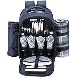 Picnic Backpack With Wine Holder
