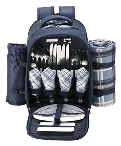 VonShef Backpack Compartment Detachable Flatware product image
