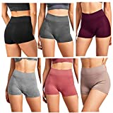 Gilbins Women Seamless Stretch Boy Shorts Panties Various Styles (High Waisted 1)