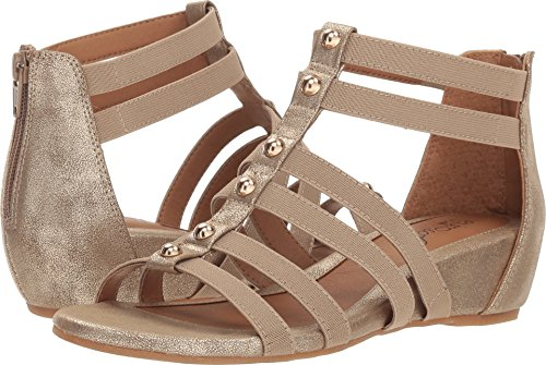 Sofft Gold Sandals - Women's Euro Soft Sofft, Rayelle Mid Heel Sandals Gold 7.5 M