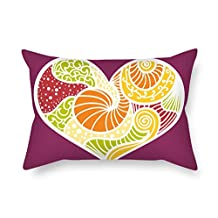 Throw Cushion Covers Of Love 20 X 26 Inches / 50 By 65 Cm Best Fit For Home Wife Outdoor Coffee House Play Room Kids Double Sides