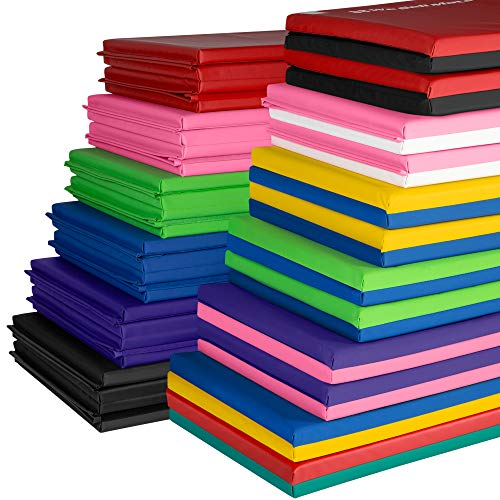 We Sell Mats Gymnastics Tumbling Exercise Folding Martial Arts Mats with Hook & Loop Fasteners, Purple, 4 x 8 in
