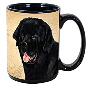 Imprints Plus Dog Breeds (E-P) Newfoundland 15-oz Coffee Mug Bundle with Non-Negotiable K-Nine Cash (newfoundland 118) 27