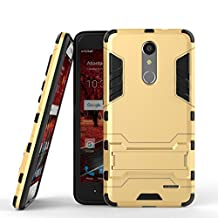 ZTE Grand X4 Case DWaybox 2 in 1 Hybrid Heavy Duty Armor Hard Back Cover Case with kickstand for ZTE Grand X 4 / ZTE Grand X4 Z956 5.5 Inch (Gold)