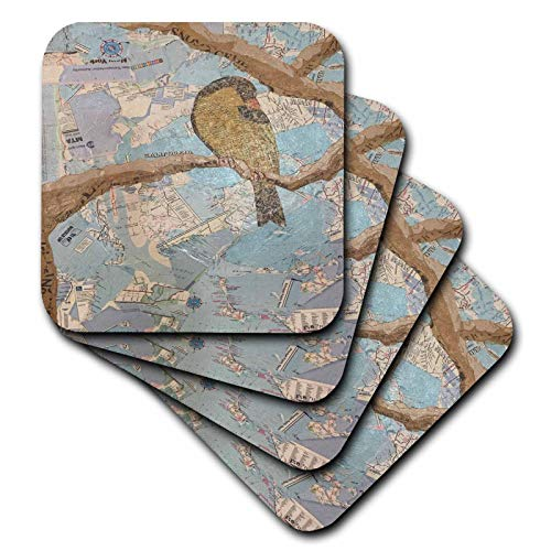 3dRose Marjesam-Art - New York Bird - set of 8 Ceramic Tile Coasters (cst_310933_4)