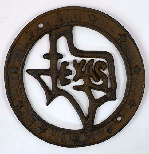 State of Texas Cast Iron Wall Plaque (Iris Plaque)