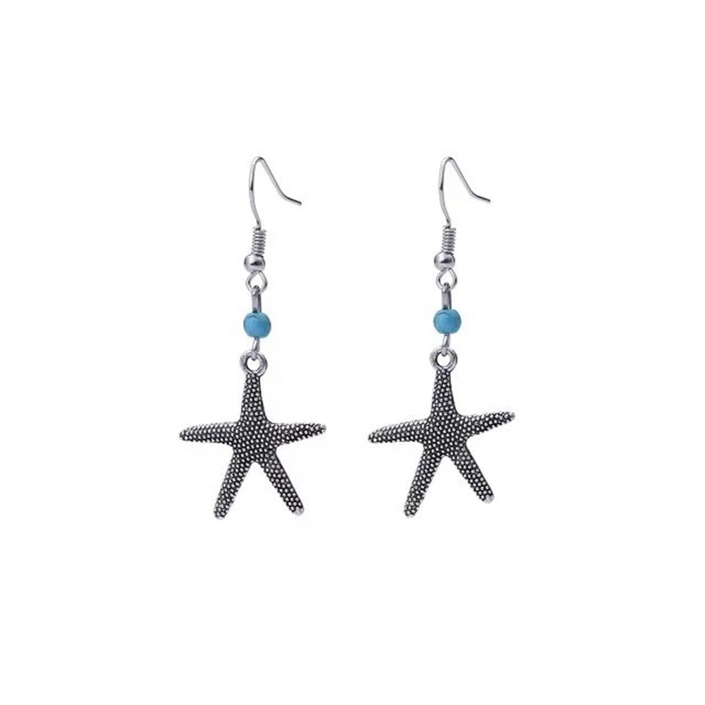 Retro Fashion Starfish Dangle Earring Trendy Party Jewelry Gift