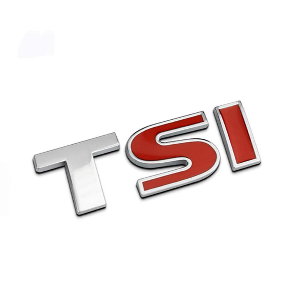 HIGGER 1Pcs 3D Metal TSI Car Side Fender Rear Trunk Emblem Badge Decalcomanie per Auto