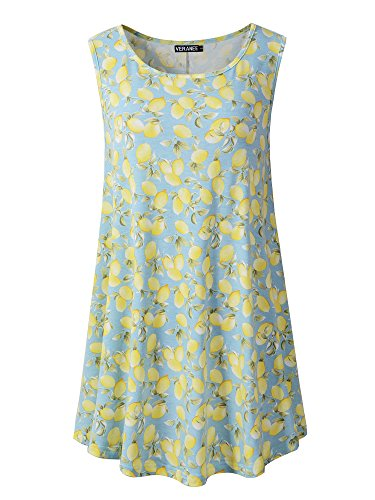 28c7685822d133 Veranee Women s Sleeveless Swing Tunic Summer Floral Flare - Import ...