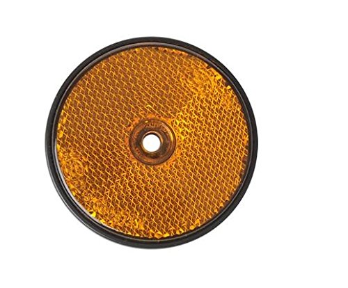 Reflecteur Signalisation Remorque Caravane - VISSER - Rond 60mm - ORANGE dc