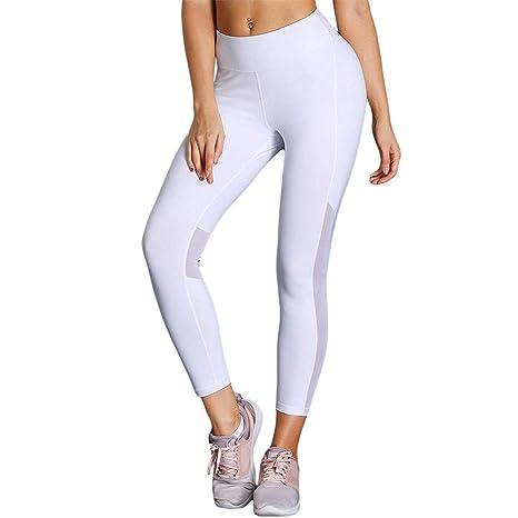 Wagsiyi Leggings De Fitness Pantalones de Correr de Cintura ...
