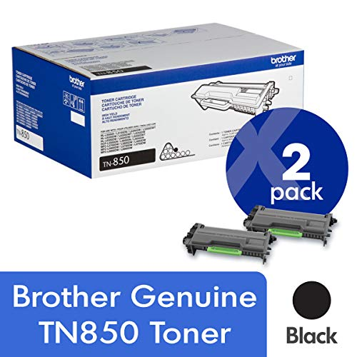(Brother Genuine TN850 2-Pack High Yield Black Toner Cartridge with Approximately 8,000 Page Yield/Cartridge)