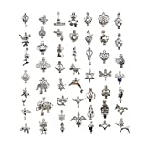 GraceAngie 30pcs Mix Silver Plated Pearl Bead Cage Pendant Locket Charms for Earring Bracelet Perfume Essential Oils Diffuser Necklace Jewelry Making
