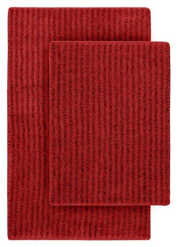 Garland Rug 2-Piece Sheridan Nylon Washable Bathroom Rug Set, Chili Pepper Red (Pepper Chili Rug)