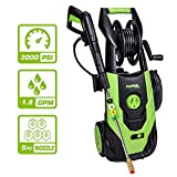 PowRyte Elite 3000 PSI 1.80 GPM Electric Pressure Washer, Electric Power Washer with Hose Reel, 5 Quick-Connect Spray Tips
