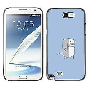 EJOY---Cubierta de la caja de protección la piel dura para el / Samsung Note 2 N7100 / --Correr Nevera divertido