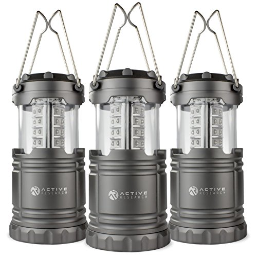 Active Research Water Resistant LED Lantern Portable 30 LED Flashlight, Battery Powered