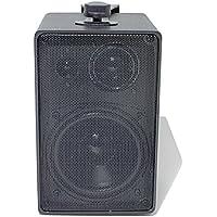 CSI/SPECO DMS-3TS BLACK 3-Way Indoor/Outdoor Weather Resistant Multi-TAP 70-Volt Speaker in Black
