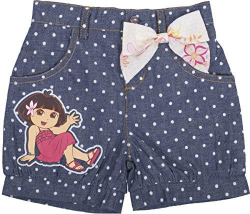 Dora The Explorer Polka Dots Shorts with Bow - Toddler (4T) Blue