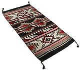 Onyx Arrow Southwest Décor Wool Area Rug, 20 x 40 Inches, Haflinger