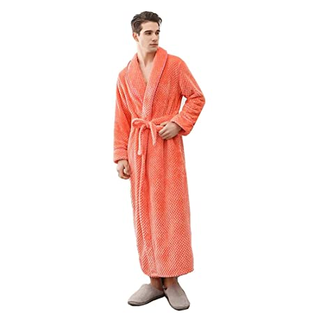 Bcl Pajamas Mens Dressing Gown Full Length Bathrobe Cotton Towelling