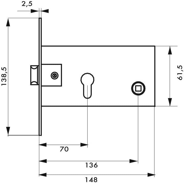 THIRARD Adaptateur triangle 11 mm pour fouillot carr/é 7 mm