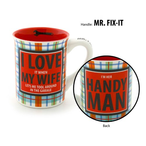 Enesco 4033435 Our Name is Mud by Lorrie Veasey Handy Man Mug by Enesco (Image #1)