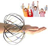JRD & BS WINL Flow Ring Toy Holographic by While Moving Creates a Ring Flow Rainbow Effect - Kinetic Toys For Teen Boy Birthday Presents Gifts Boys Toys 3-12(Colurful 01)