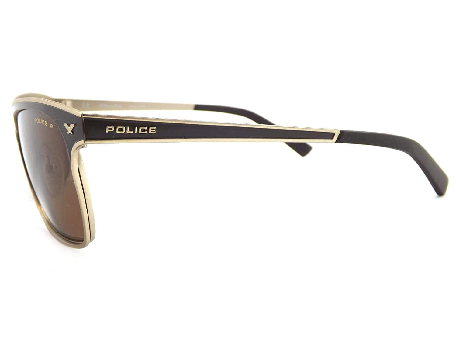 25080121a16 Police History 1 Polarized Sunglasses Matte Brown Gold S8948 369P   Amazon.co.uk  Clothing