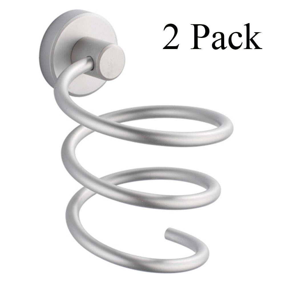 MelonBoat Hair Blow Dryer Holder, Wall Mount Spiral Blower Stand 2 Pack TEKEFT