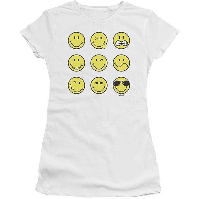 AmazonCom Juniors Smiley World Feeling Chart Juniors Slim T