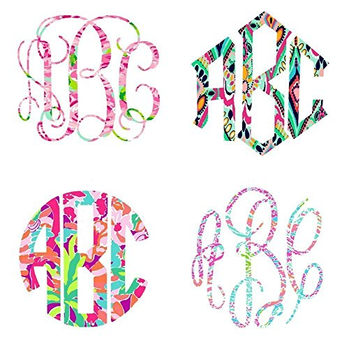 (Lilly Inspired Vinyl | Custom Monogram Large Decal | Choose your Style, Print & Size | 5.5