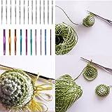 Flytianmy 100Pcs Aluminum Crochet Hooks Set,Yarn