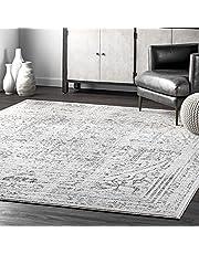 "nuLOOM Arlena Vintage Area Rug, 7' 6"" x 9' 6"", Grey"