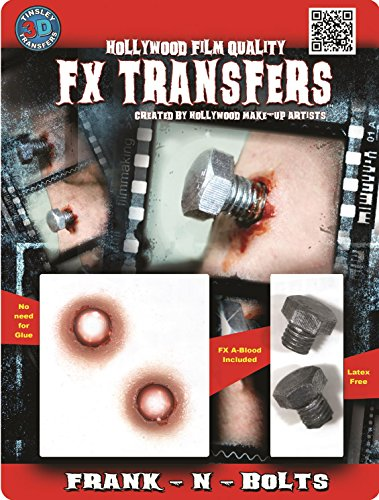 Tinsley Transfers  Frank-N-Bolts, Flesh/Multi, One Size
