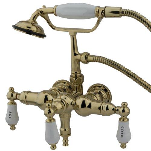 Kingston Brass CC21T2 Vintage Leg Tub Filler with Hand Shower, Polished Brass ()