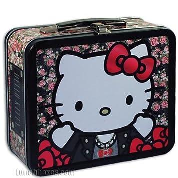 Amazon.com   Hello Kitty Floral Metal Tin Lunch Box Loungefly Sanrio    Beauty c7afc633cf718